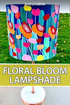 Learn how to decorate a normal lampshade with beautiful floral blooms. #Instructables #home #decor #painting #art Glass Paint Markers, Paint Marker Pen, Painting Process, Painting Art, Spray Paint Colors, Blue Block, Light Peach, Rose Gold Color, Light In The Dark