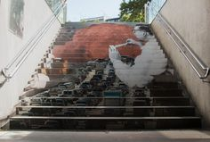 La escaleras del metro, convertidas en obras de arte