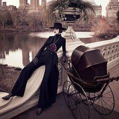 "#editorial #preview ""New York Lady"" with #LiaPavlova by #LuigiAndIango in #VogueGermany #March2017, styling by #PatrickMackie. Hair and make up by #LuigiMurenu and #GeorgiSandev, manicurist #NaomiYasuda. Credit image to Visualizing Fashion #art8amby #art8ambygram #art8ambyeditorial"