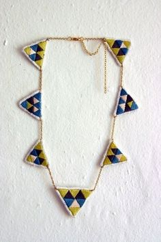 spinthread - embroidered necklace
