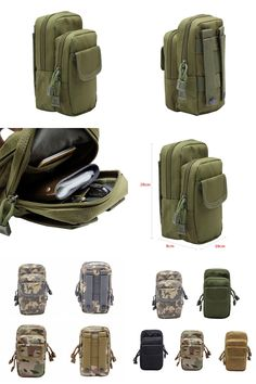 [Visit to Buy] New Outdoor Military EDC Nylon Tactical Molle Waist Pack  Tools Utility Sundries Pouch Equipment Packs Bags #Advertisement