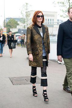 Street style semana de moda en Paris primavera verano 2014 Moda en la calle Taylor Tomassi Hill