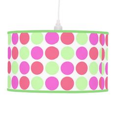 retro polka dots pattern lamp
