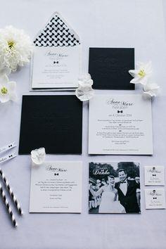 What We're Loving: Letterpress Wedding Paper Suites Post Wedding, Wedding Thank You, Wedding Paper, Wedding Cards, Wedding Stationery, Wedding Invitations, Monochrome Weddings, German Wedding, Black Tie Wedding