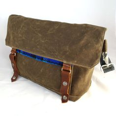 Little Lumberjack Waxed Canvas Messenger by WoolyBison on Etsy, $125.00