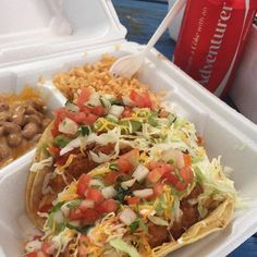 We are OPEN for #EasterSunday! Grab a #mealdeal with #two #fishtacos #loaded #rice #beans and a #drink