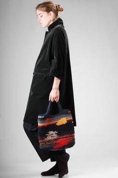 hand bag in crochet multicolour wool and hemp - DANIELA GREGIS