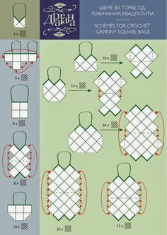 New Crochet Granny Square Bag Handbags Free Pattern 48 Ideas Sac Granny Square, Point Granny Au Crochet, Granny Squares, Crochet Diy, Crochet Tote, Crochet Handbags, Crochet Purses, Bag Patterns To Sew, Crochet Patterns