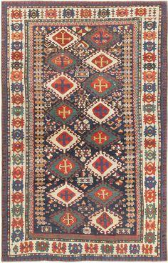 Antique Kazak Caucasian Rug #44416 Main Image - By Nazmiyal