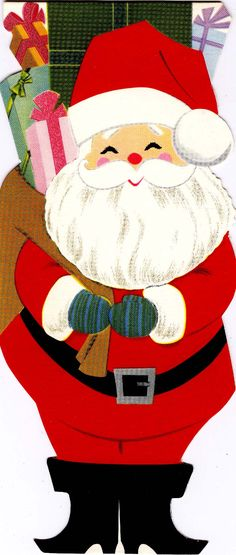 #Christmas #Santa #claus St Nick (vintage greeting card)