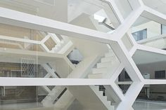 Transparent House Consists of Alternating Levels Connected by Multiple Staircases - My Modern Met