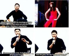 Felicia Day and Jensen | Supernatural