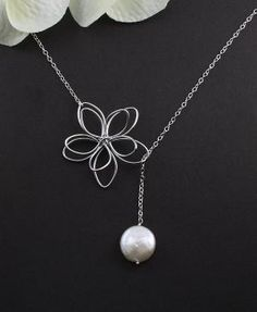 Sterling Silver Jewelry  Garden Moon Flower & by MenuetDesigns