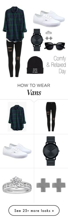 """Comfy and relaxed"" by jxl048 on Polyvore featuring Madewell, Vans, Movado, Tiffany & Co. and Amberly Cross"