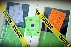 Signs for the Doors for a Monsters Inc. Party