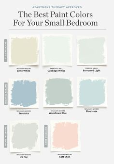 8 Paint Colors That Always Work for a Small Bedroom. 8 Paint Colors That Always Work for a Small Bedroom. Ideas for Couch for a Family Room. Small Living Room Design You can get more details by clicking on the image. Best Paint Colors, Paint Colors For Home, Paint Colours, Paint Colors For Bedrooms, Light Blue Paint Colors, Nursery Paint Colors, Paint Colors For Living Room, How To Paint Room, Color Blue