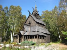 Old Norwegian Church   ... really cool church that was designed after the old Norwegian churches