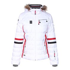 Women s White Caia Padded Ski Jacket Faux Fur 5b5dcbd19