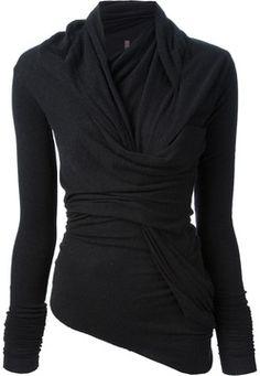Rick Owens twisted sweater on shopstyle.co.uk