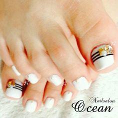 White Toe Nail ART #nailbook