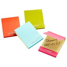 Sticky Notes : For the friend who still loves to make a list with pen and paper, wrap up a bunch of these fun matchbook sticky notes ($2).