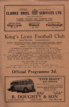 King's Lynn FC v Wisbech Town 1957-58 FA cup