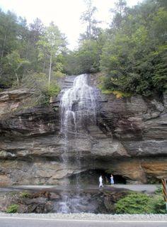 Bridal Veil Falls, between Franklin and Highlands, NC