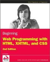 Beginning Web Programming with HTML, XHTML, and CSS - Download - 4shared - Amarto Bhattacharyya