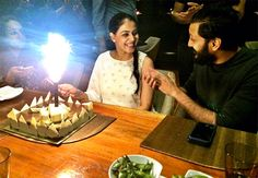 The Way Riteish & Genelia Are Looking At Each Other In This Photo Is Just Too Sweet Sweet Messages, Birthday Dinners, No Way, Birthday Candles, Happy Birthday, Happy Brithday, Urari La Multi Ani, Happy Birthday Funny, Happy Birth