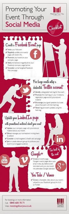 "Promoting Your Event Through Social Media - <a class=""pintag"" href=""/explore/infographic/"" title=""#infographic explore Pinterest"">#infographic</a>"