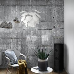 Offer textural charm to your space with the exposed, industrial Mural Broken Concrete Wallpaper from Vision Wallcoverings. Home Design, Interior Design Studio, Broken Concrete, Concrete Wall, Concrete Jungle, Wallpaper Suppliers, Warehouse Home, Estilo Tropical, Grey Walls