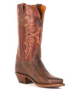Women's Chocolate Matte Ostrich Leg 5 Toe Boots