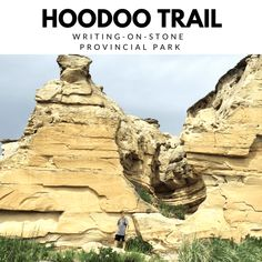 The Hoodoo Trail at Writing-on-Stone Provincial Park KM), is a great way to get up and close with the hoodoos, and take in the most amazing views of this unique and breathtaking landscape. Great Walks, Great Pictures, Amazing Nature, Bouldering, Trail, Places To Visit, Hiking, Tours