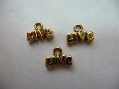 Charm Antiqued Gold Plated Pewter Tin Based Alloy by darlamarie23, $3.09