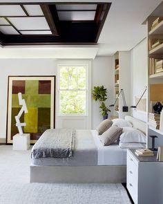 This bedroom is the epitome of calm. | Photo: @richardpowersphoto; Design: @darrylcarterdesign #EDbedrooms