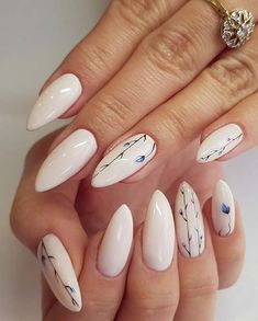 43 Best Spring Nail Art Designs to Copy in 2019 Long, Elegant Floral Nails Long Nail Designs, Nail Designs Spring, Nail Art Designs, Nail Designs Floral, Flower Design Nails, Almond Nails Designs Summer, Summer Nails Almond, Simple Nail Designs, Elegant Nails