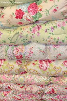 Just a few of the eiderdowns in the Vintage Home shop! www.vintage-home.co.uk