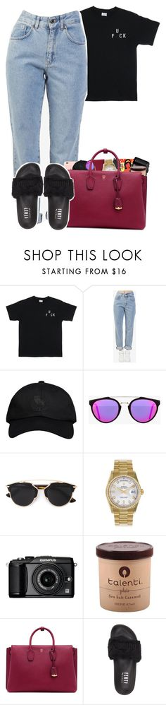 """6:47"" by bryannilove ❤ liked on Polyvore featuring The Ragged Priest, October's Very Own, RetroSuperFuture, Disney, Christian Dior, Rolex, Olympus, MCM and Puma"