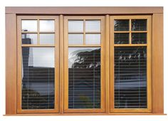 You can't beat the timeless elegance of our all-wood windows! We offer in house painting and or staining to perfectly meet your requirements. Indian Window Design, Front Window Design, Wooden Window Design, Window Glass Design, Window Grill Design Modern, Wooden Window Shutters, House Window Design, Pooja Room Door Design, Wooden Windows