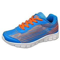 a9974666bc73 perfect Air Balance Girls Blue Orange Lightweight Cross Trainer Shoes