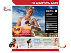 Diseño micrositio - Sports World