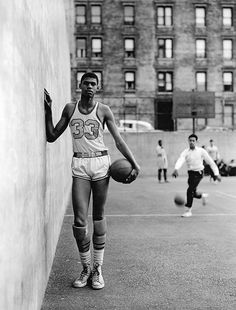 Ferdinand Lewis Alcindor a.k.a. Kareem Abdul-Jabbar as a young man in New York City. Photo by Richard Avedon.