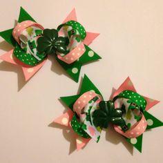 St. Patricks day pigtail set:)