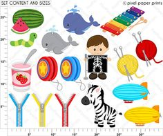 Alphabet Clipart Part 7 ABC clip art WXYZ by pixelpaperprints