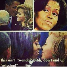 Obama-Michelle vs Beyonce meme