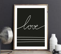 Lamina Love, Lamina Decorativa, Lamina Nordica, Lamina Frase, Decoracion Infantil, Nordic Deco, Minimal Deco, Love Poster, Love Quote