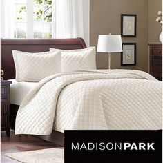 @Overstock.com - Madison Park Bailey 3-piece Coverlet Set - The Madison Park Bailey Coverlet Collection combines style and comfort. The top of the bed features a 200 gsm polyester mink fabrication with all over quilting for an incredibly soft and warm coverlet to keep you warm all year long.  http://www.overstock.com/Bedding-Bath/Madison-Park-Bailey-3-piece-Coverlet-Set/8458591/product.html?CID=214117 $49.49