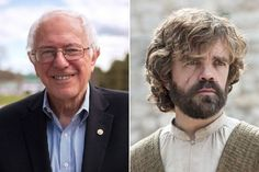 Bernie Sanders and Tyrion Lannister