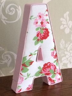 Girls bedroom nursery fabric letters covered in Cath Kidston