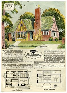 brick and stone english cottage 1929 sears brick veneer kit homes colchester - Brick English Home Plans